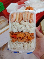Combo ghẹ: Thịt + Càng + Gạch _ Khay 250g